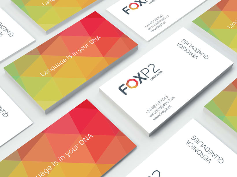 FoxP2 Languages // logo & branding design 3