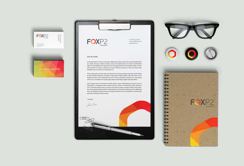 FoxP2 Languages // logo & branding design 4