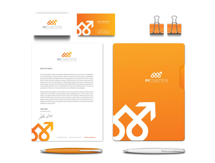 AV Coaching // Logo & Branding Design 3