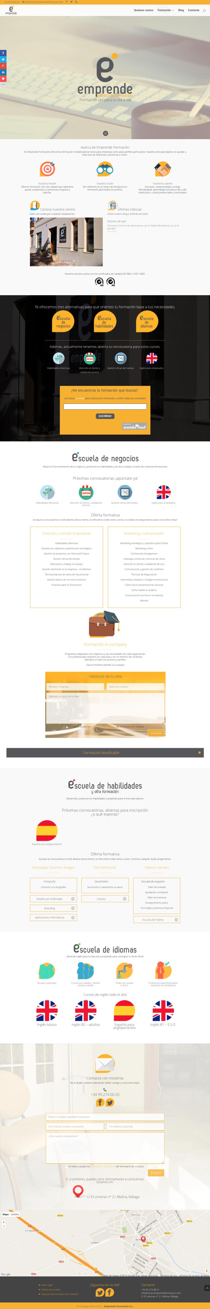 Web Centro Emprende Formación 2