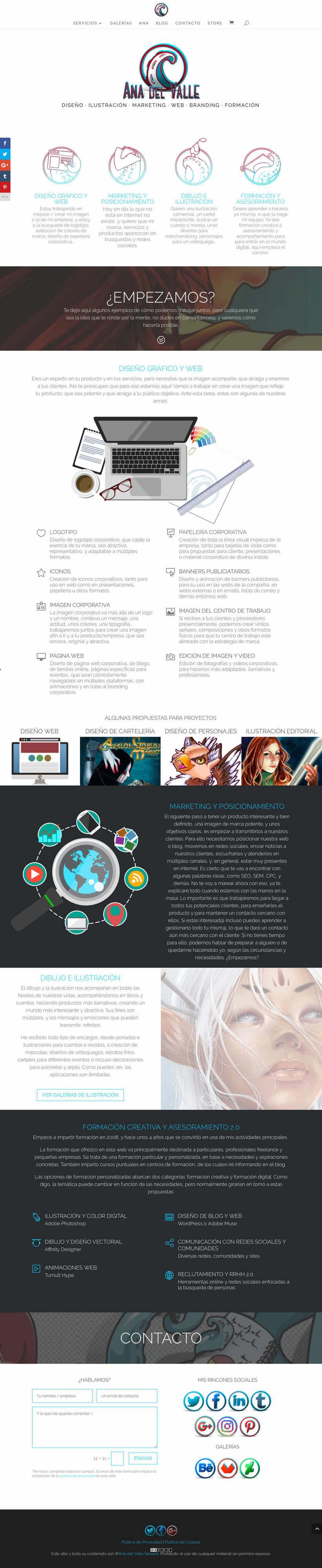 Diseño web AnadelValle.com 2