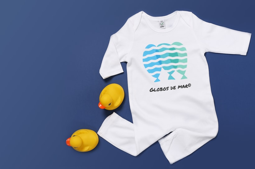 Globos de Mar. Diseño de estampados en ropa infantil ecológica -1