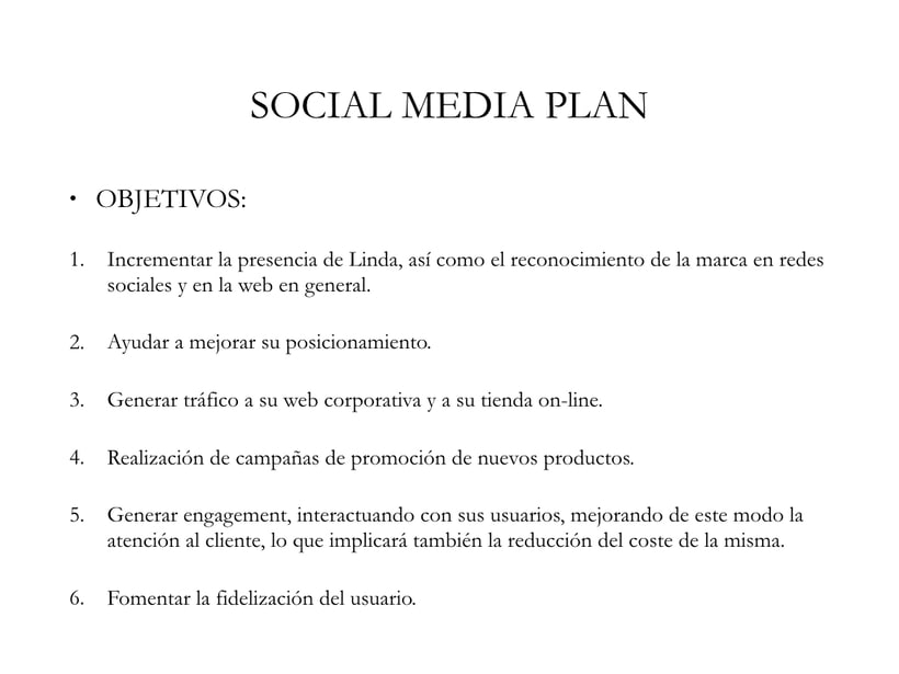 Linda Social Media Plan 0