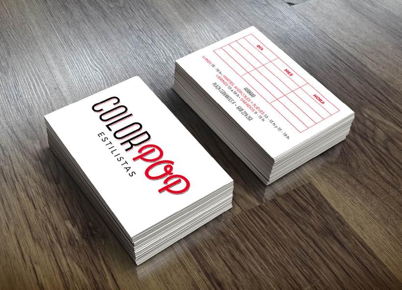 ColorPop Estilistas - Diseño Logotipo y Decoración  2