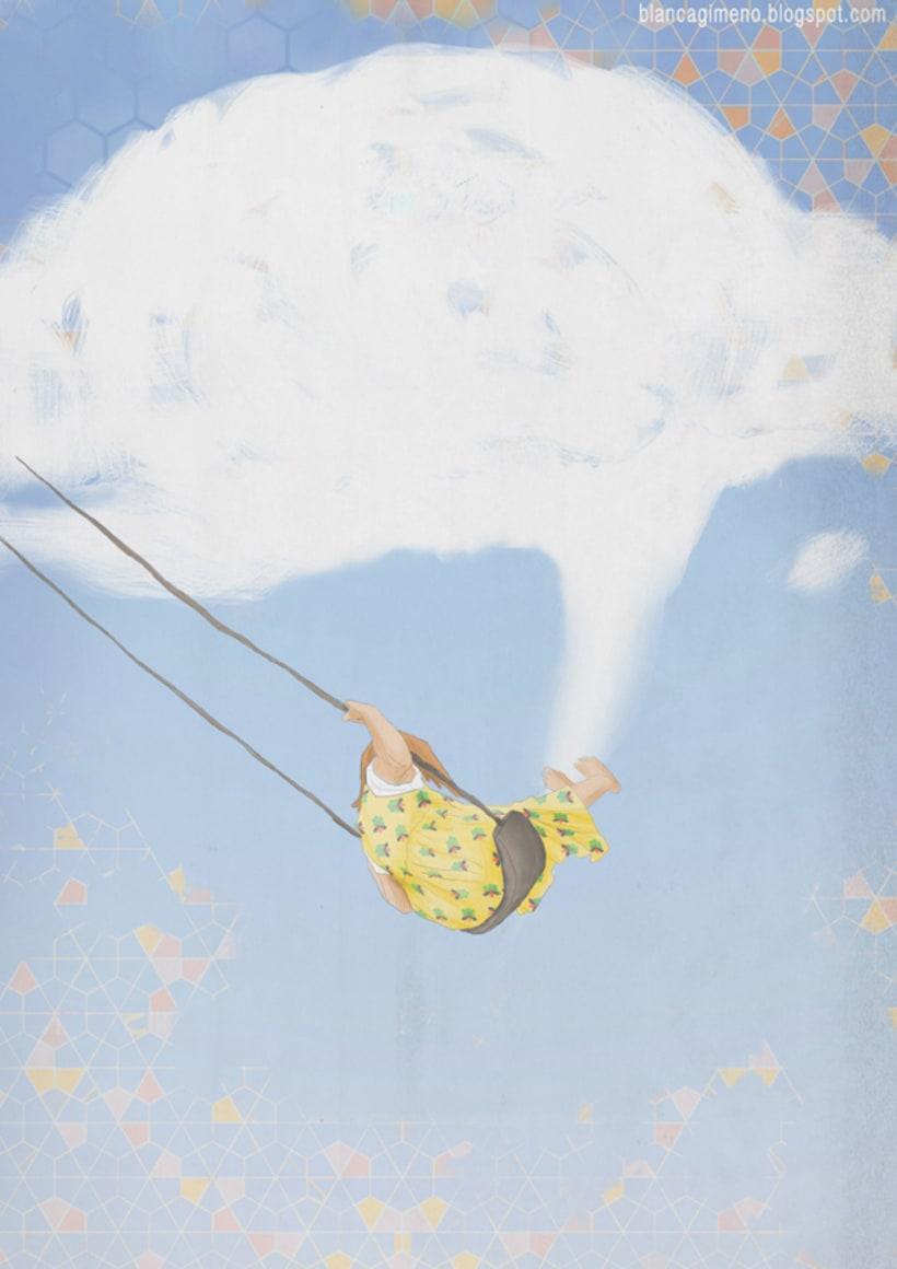 Rozando el cielo, ilustración para blog creativo. -1
