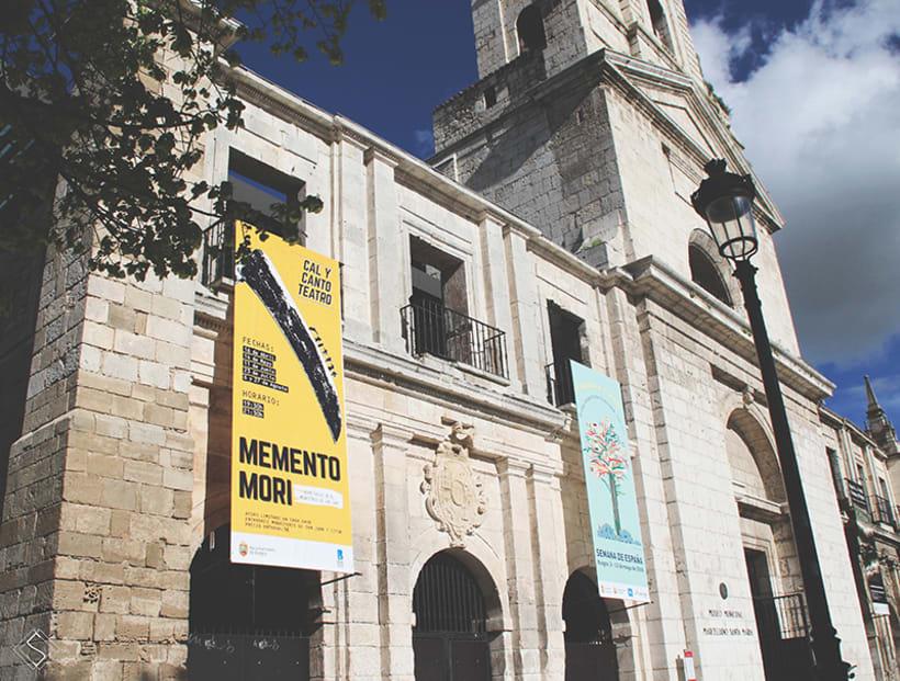 """Cartel, obra de teatro """"Memento Mori"""" 0"""