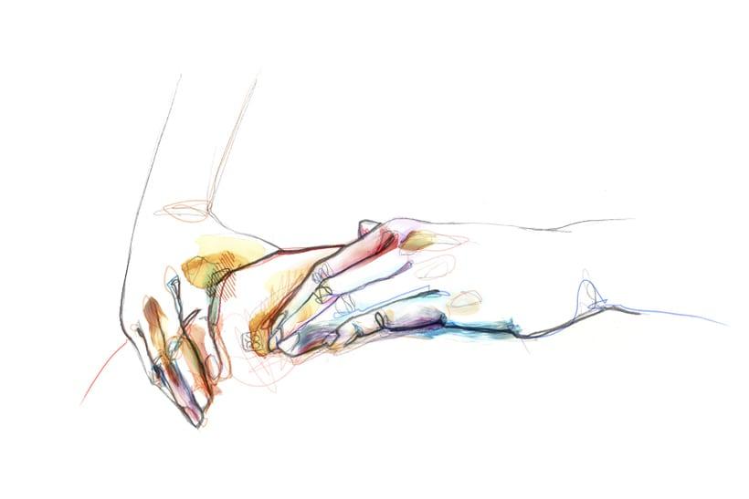 Ilustraciones para centro de ioga y terápias naturales  5