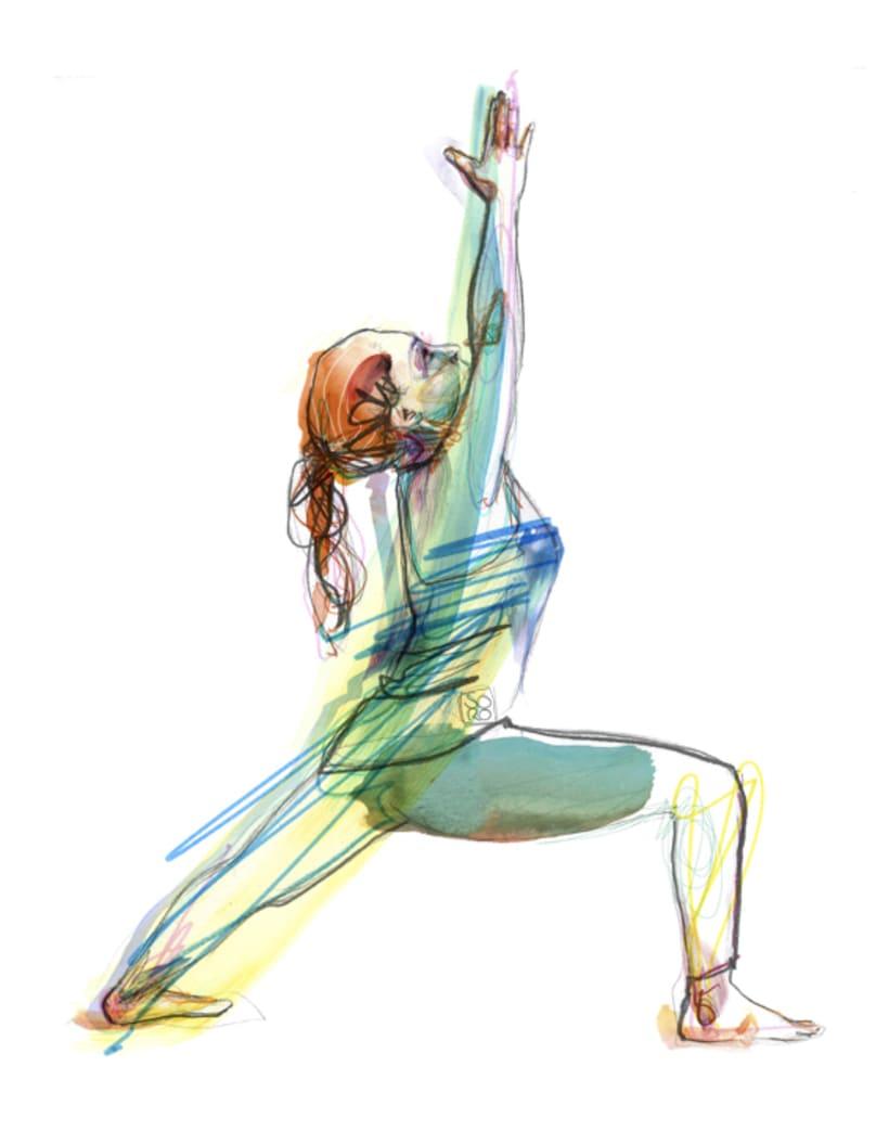 Ilustraciones para centro de ioga y terápias naturales  4