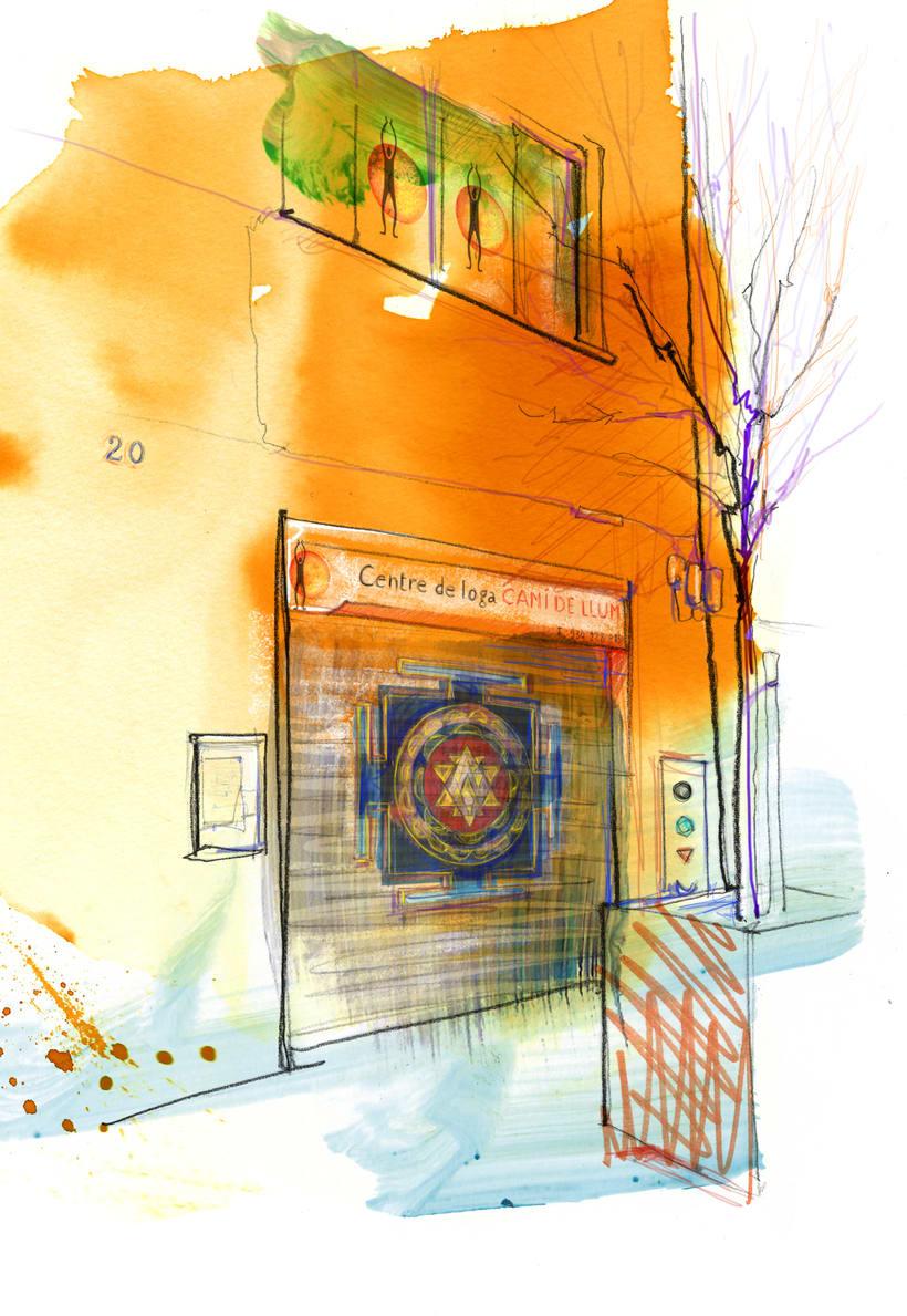 Ilustraciones para centro de ioga y terápias naturales  3