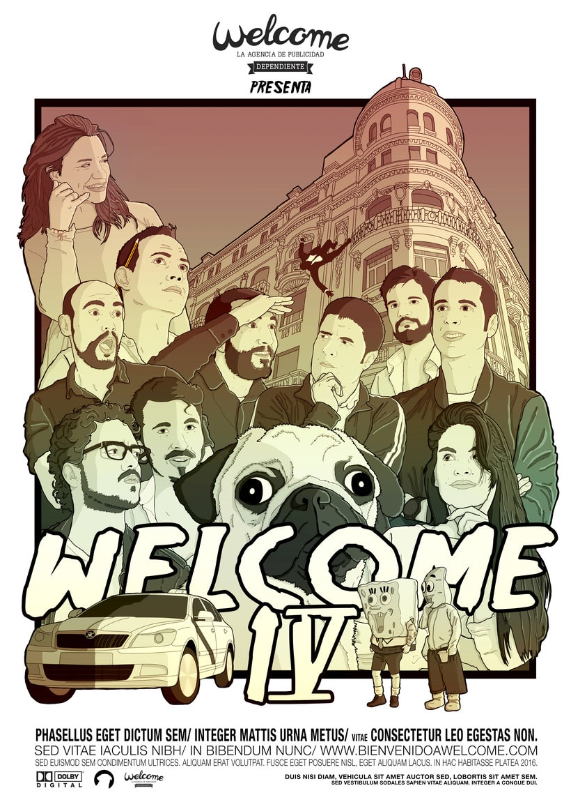 Ilustración 4º Aniversario Agencia Welcome Madrid -1