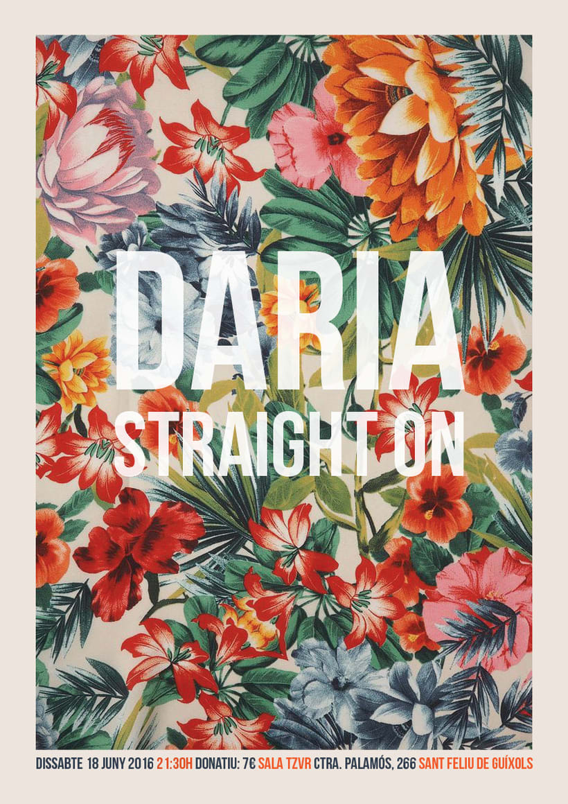 Cartel DARIA + STRAIGHT ON  -1