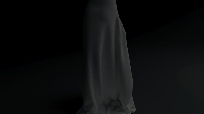 WHITE NIGHT DRESS· Proyecto Visual 3D 4