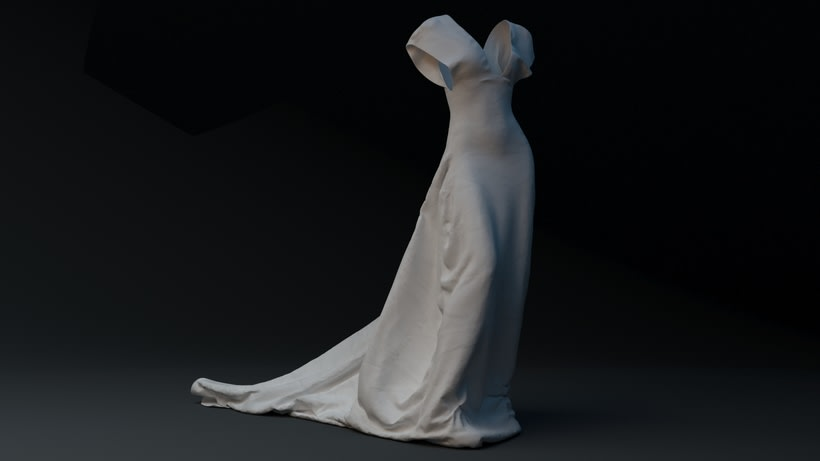 WHITE NIGHT DRESS· Proyecto Visual 3D 2