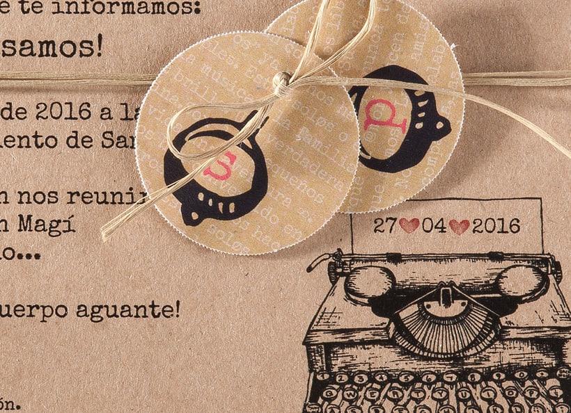 Diseño de invitaciones de boda. 1