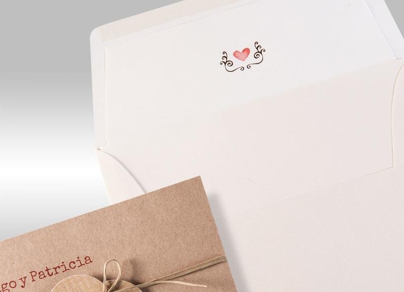 Diseño de invitaciones de boda. 2