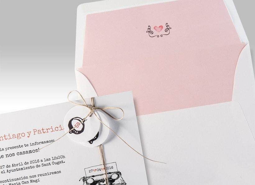 Diseño de invitaciones de boda. 5