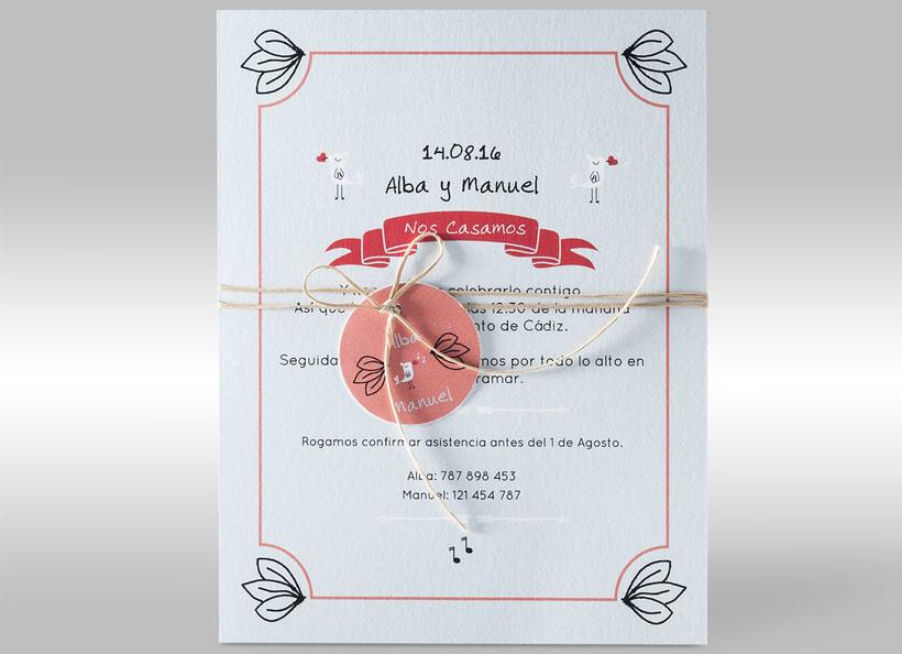 Diseño de invitaciones de boda. 6