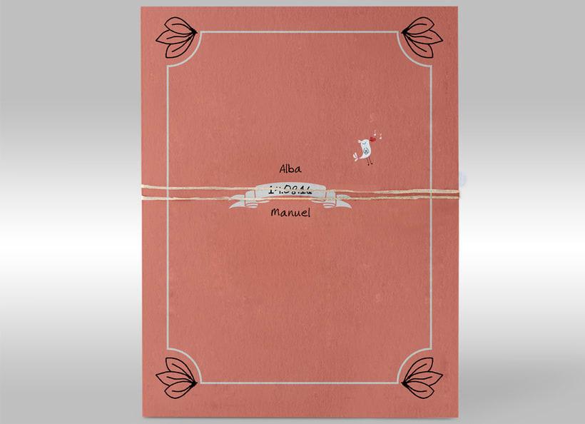 Diseño de invitaciones de boda. 7
