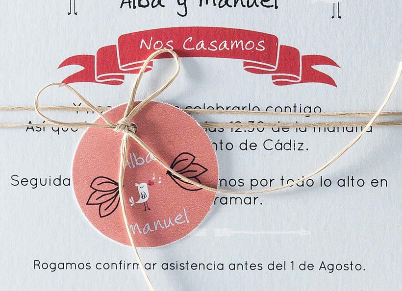 Diseño de invitaciones de boda. 8