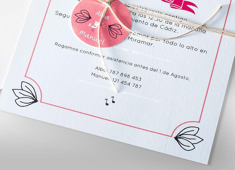 Diseño de invitaciones de boda. 9
