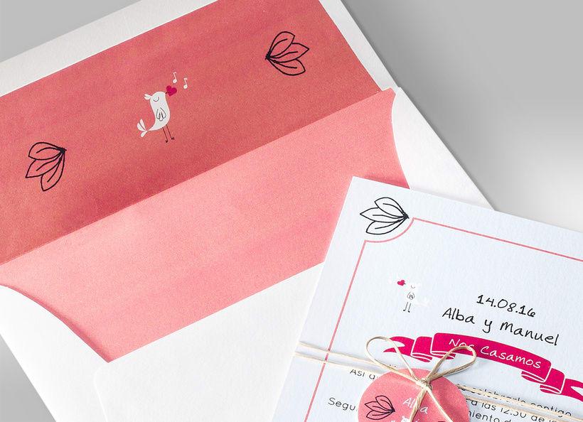 Diseño de invitaciones de boda. 10