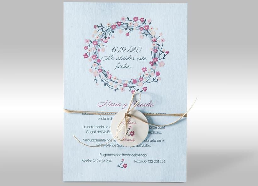 Diseño de invitaciones de boda. 11
