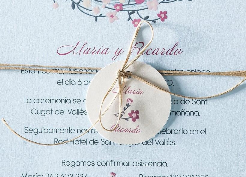 Diseño de invitaciones de boda. 12