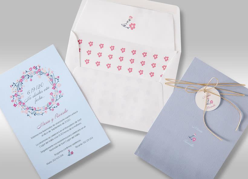 Diseño de invitaciones de boda. 13
