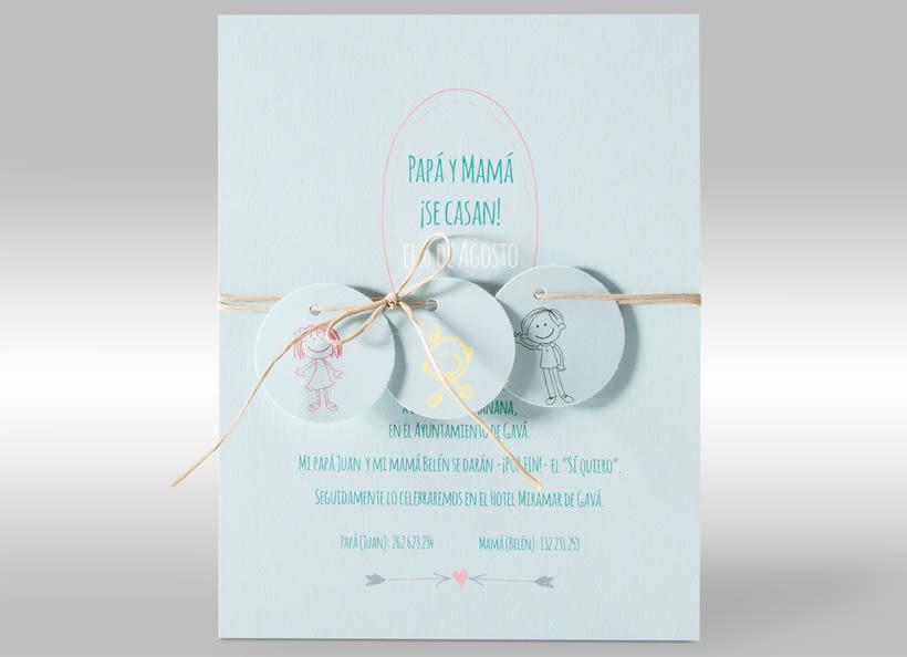 Diseño de invitaciones de boda. 14