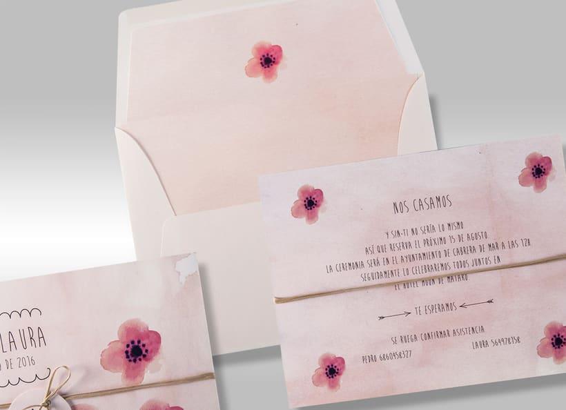Diseño de invitaciones de boda. 19