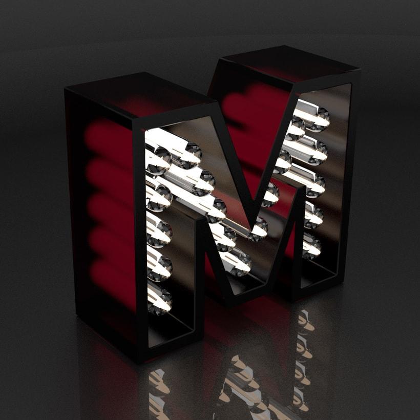Mi Proyecto del curso: Lettering 3D: modelado y texturizado con Cinema 4D 3