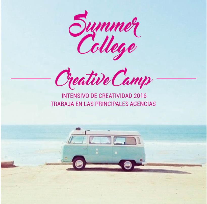 Summer creative Camp. Intensivo de verano para trabajar en las agencias. 1