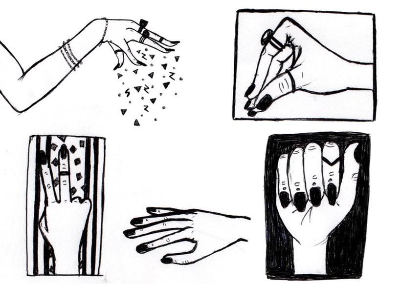 Aquarela i tinta negre 15