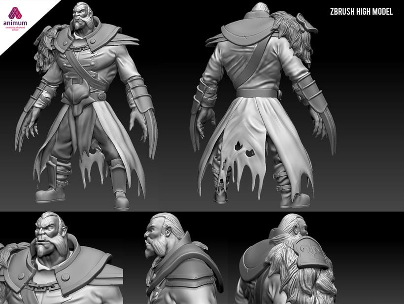 3d High model sculpt - Lycan Dota 2 -1