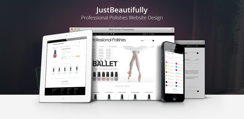 Just Beautifully - Professional Polishes Web Design -1