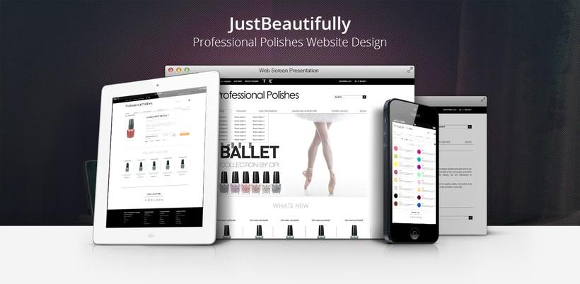 Just Beautifully - Professional Polishes Web Design -1