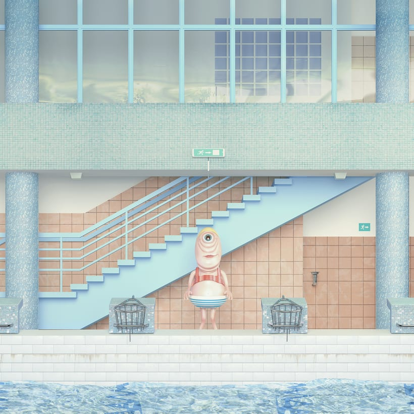 """Beautiful Swimming Pool"" Maria Svarbova 3D version 2"