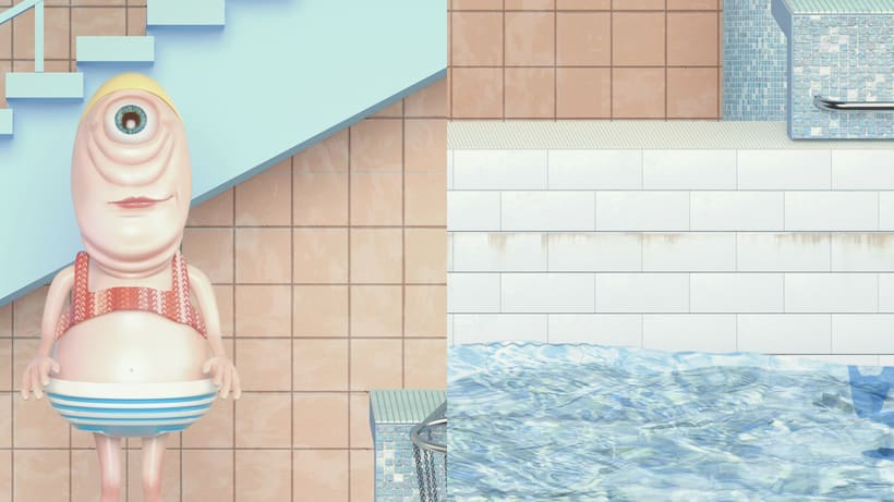 """Beautiful Swimming Pool"" Maria Svarbova 3D version 3"