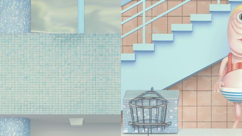 """Beautiful Swimming Pool"" Maria Svarbova 3D version 4"