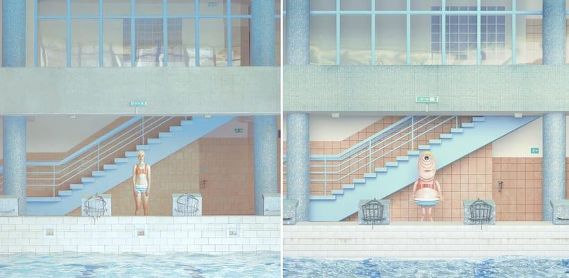 """Beautiful Swimming Pool"" Maria Svarbova 3D version 1"