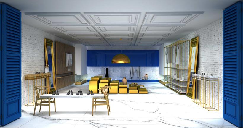 Diseño Espacio Comercial Boutique. Hotel Mediterranea.2014. -1