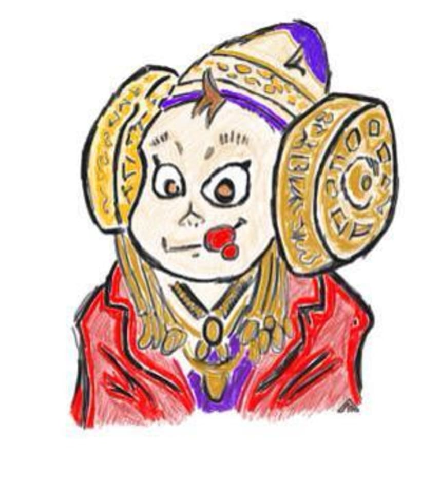Caricatura Dama de Elche 0