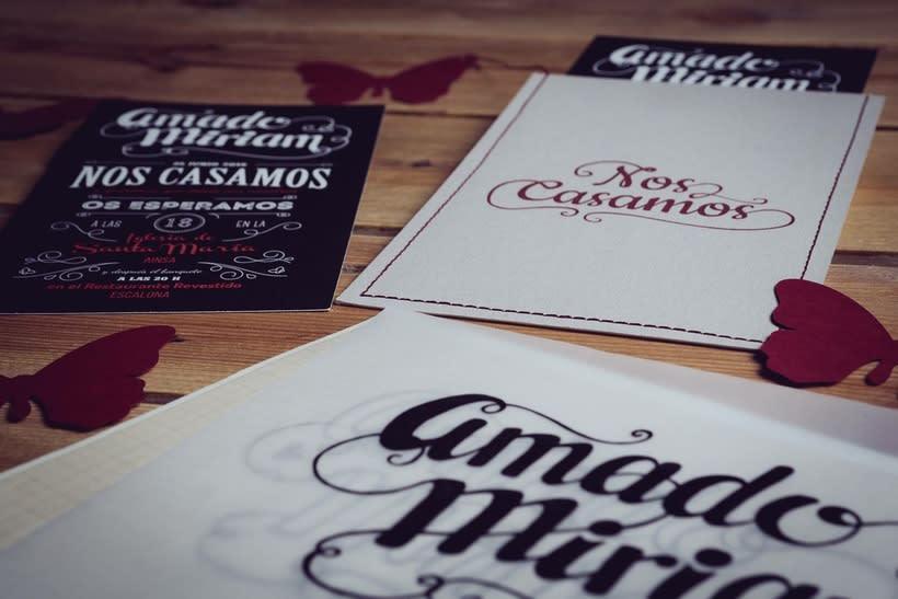 Diseño Invitaciones de Boda Miriam & Amado 2