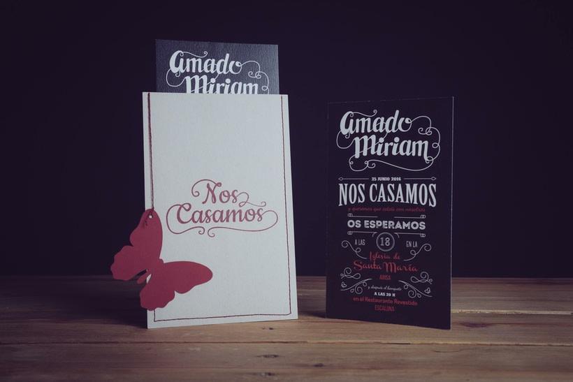 Diseño Invitaciones de Boda Miriam & Amado 3