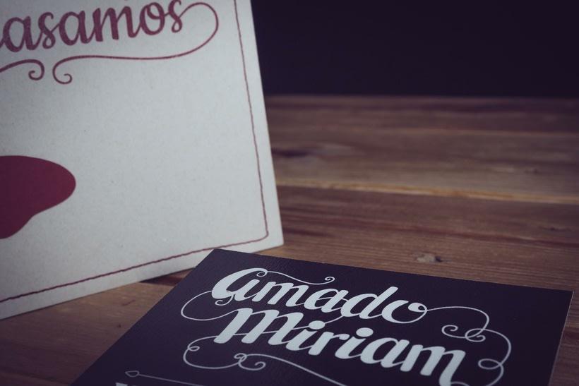 Diseño Invitaciones de Boda Miriam & Amado 4