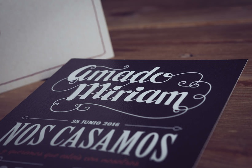 Diseño Invitaciones de Boda Miriam & Amado 5
