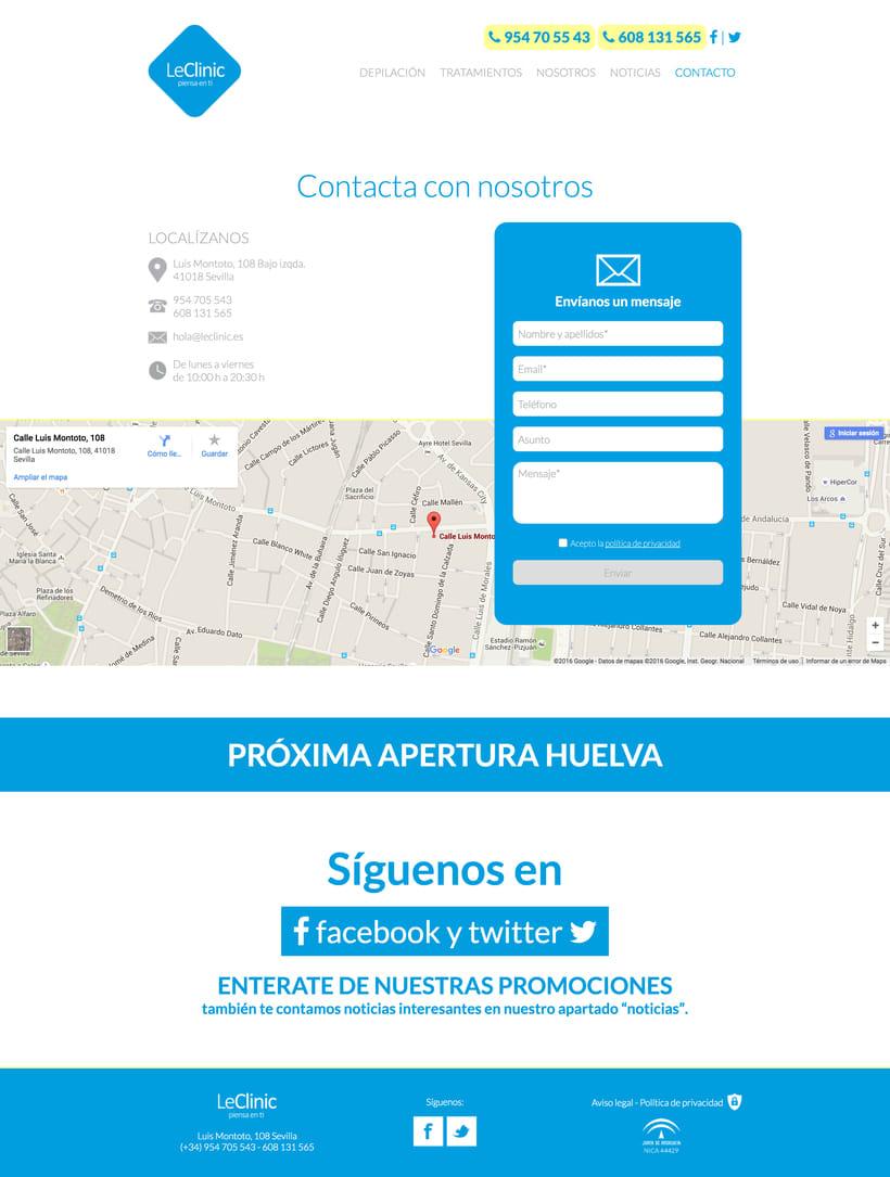 Diseño/Desarrollo Web/UI/UX: LeClinic 10