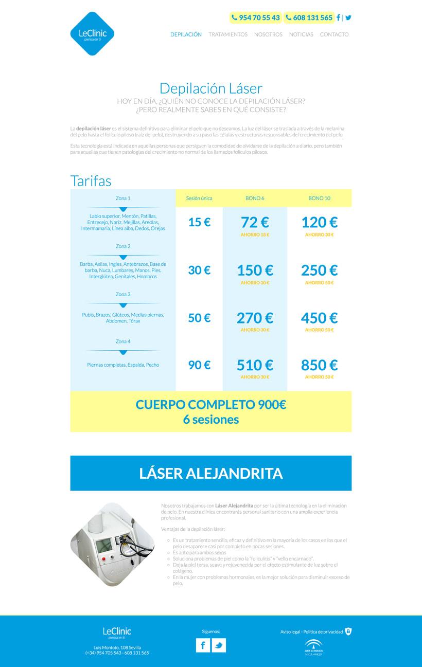 Diseño/Desarrollo Web/UI/UX: LeClinic 4