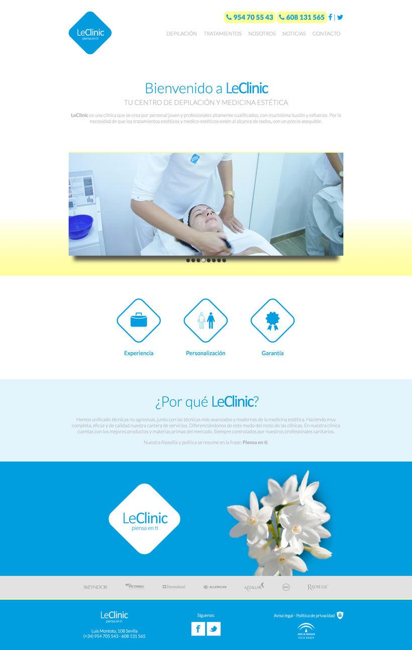 Diseño/Desarrollo Web/UI/UX: LeClinic 3