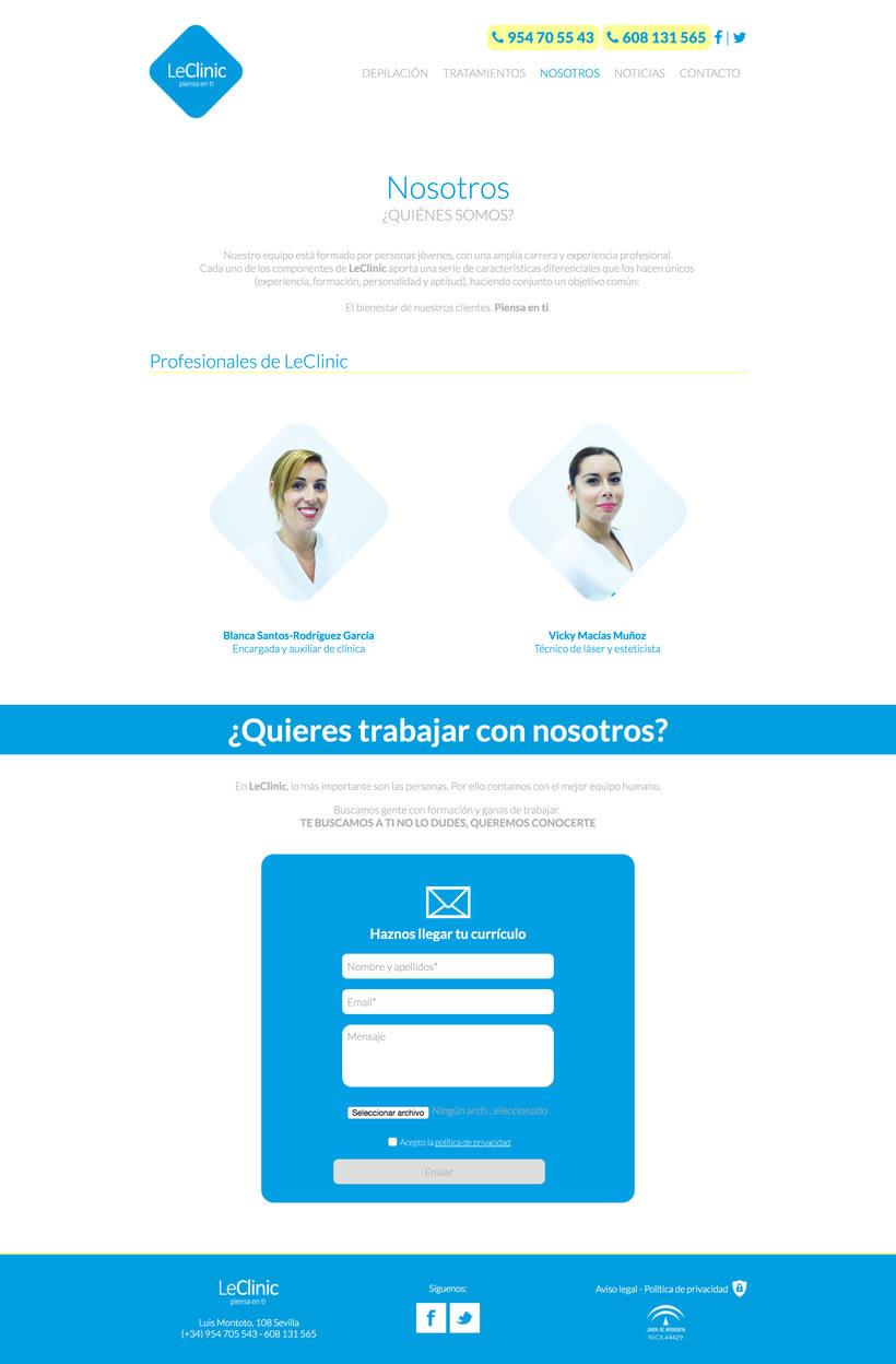 Diseño/Desarrollo Web/UI/UX: LeClinic 8
